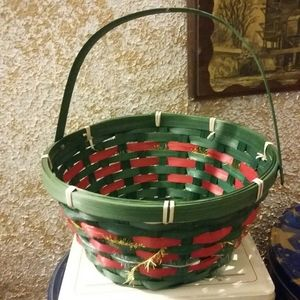 Christmas basket weaved